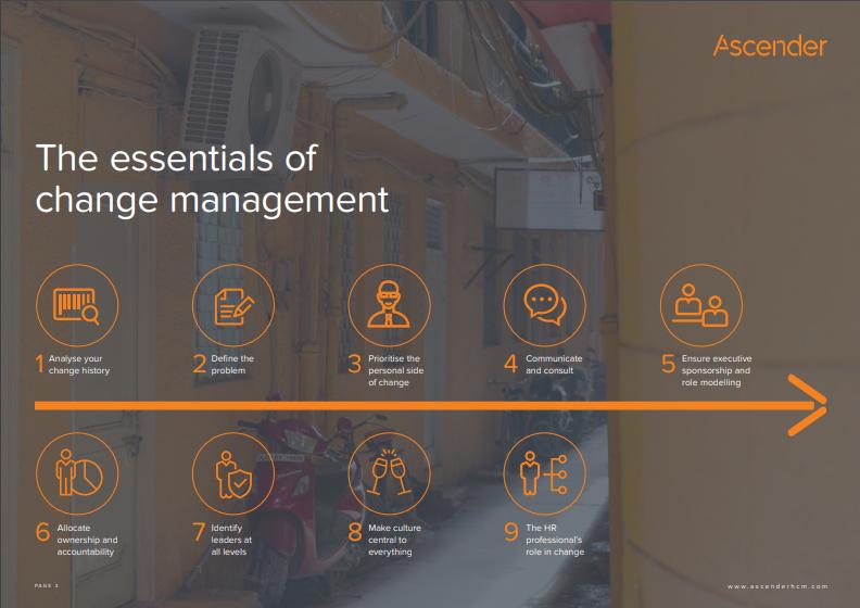 The essentials of change management