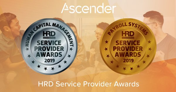 Leading Payroll and Human Capital Management (HCM) software provider, Ascender, has been awarded two medals in the HCM and Payroll System categories at the HRD Service Provider Awards.